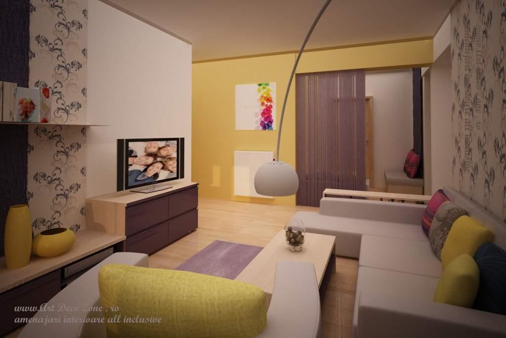 Design apartament mic in culori calde art deco zone for De design interior