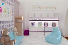 <h5>Camera de joaca</h5><p>Daca ai o camera de joaca separata de dormitor, pentru a primi prietenii, iata aici o propunere pentru o fetita. </p>