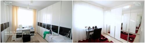 <h5>Dressing - comparatie</h5><p>In ambele vile a fost aleasa aceiasi camera pentru dressing, singura diferenta fiind in modul de abordare al usilor mobilierului la comanda. </p>