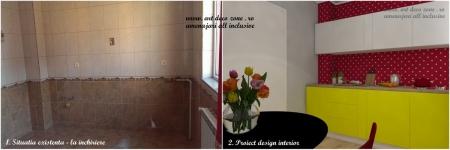 <p>Aveti imagine cu bucataria actuala in stanga si propunerea noastra in dreapta. Aceasta e camera de lucru. </p>
