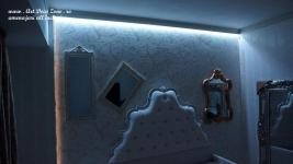 <h5>Scafa de lumina</h5><p>Scafa cu lumina indirecta este de efect, culoarea acesteia putand fi selectata din telecomanda. </p>