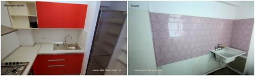 <h5>Before & after</h5><p>Bucatarie, vedere inainte si dupa amenajarile interioare complete, mobilare si decorare.</p>