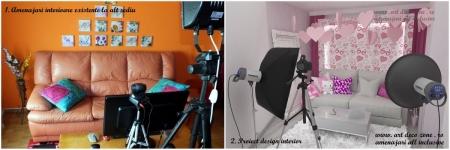 <p>Aici este o comparatie intre un spatiu existent amenajat cu canapea si o camera de lucru cu canapea in proiectul nostru de design interior. </p>