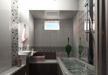 <h5>Faianta cu decor floral</h5><p>Culorile alese pentru baie sunt sobre, insa decorul floral inveseleste atmosfera.</p>