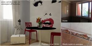 <p>Comparatie colt bucatarie, stadiu actual vs. propunere proiect design interior</p>