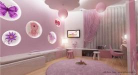 <h5>Dormitor roz</h5><p>Poate ca rozul pentru fetite este un stereotip, insa in amenajarea aceasta se potriveste perfect. </p>