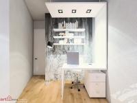 <p>Aceasta camera micuta are tema de birou. S-a dorit ceva ce ar putea fi si biroul de acasa dar si la job.</p>