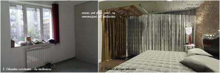 <p>Dormitorul clasic cu bara a fost amenajat in una dintre cele mai incapatoare camere ale vilei. Comparatie proiect vs. initial. </p>