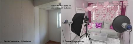 <p>Propunerea noastra pentru amenajarea camerei cu canapea si interior adolescentin vs. situatia existenta in santier. </p>
