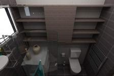 <h5>Mobilier baie</h5><p>Masina de spalat rufe nu incapea in bucataria micuta, asa ca si-a gasit locul in grupul sanitar de la parter. </p>