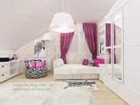 <h5>Indraznet</h5><p>Acest dormitor de adolescenta este decorat cu texturi mai indraznete, blana de zebra si oaie. </p>
