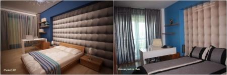 <h5>Dormitor 3D vs. real</h5><p>Comparatie intre proiectul propus (stanga) si executia propriu zisa (dreapta)</p>