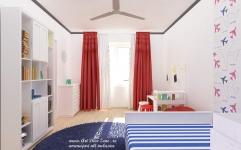 <h5>Tapet asortat</h5><p>Pe tema hobbiurilor proprietarului a fost conceput acest dormitor cu tapet cu avioane. </p>