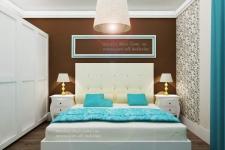 <h5>Dormitor clasic</h5><p>Dormitorul de oaspeti are un aer clasic, elegant, cu piesa centrala fiind un pat tapitat incadrat de noptiere sculptate manual. </p>