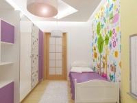 <h5>Dormitor fetita</h5><p>Camera fetitei este decorata in culori delicate, cu tapet personalizat cu personaje amuzante.</p>