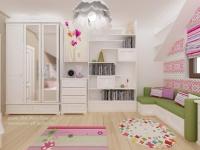 <h5>Dormitor delicat</h5><p>Pentru o fetita sensibila, am amenajat aceasta camera cu motive traditionale pe perete. </p>