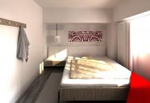 <h5>Dormitor auster</h5><p>In dormitor se gaseste doar patul si o mica comoda pentru TV si pentru cateva carti. </p>
