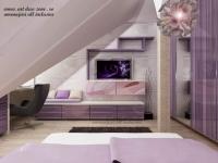 <h5>Mobilier</h5><p>In fata patului avem mobilierul de TV cu print, in colt la fereastra este biroul iar in dreapta dressingul. </p>