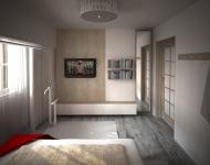 <h5>Tapet decorativ</h5><p>Tapetul are o textura de lemn, foarte naturala si eleganta, ton in ton cu mobilierul.</p>