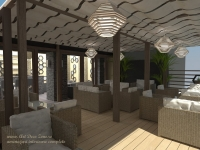 <h5>Lumina</h5><p>Pe terasa, spatiul este racoros insa luminos si confortabil.</p>