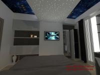 <h5>Tavan decorativ</h5><p>Combinatiile de lumini din tavan si membrana extensibila tip Barrisol creaza o atmosfera avantgardista. </p>