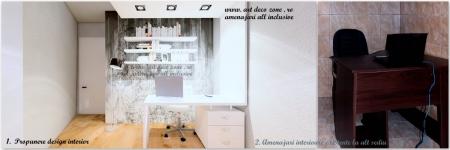 <p>Camera videochat birou dintr-un alt sediu al clientului vs. propunere design interior </p>