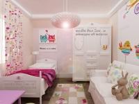 <h5>Dormitor fetita</h5><p>Fetita fiind mica s-a propus pentru acest dormitor si o canapea, pentru a putea fi supravegheata la joaca.</p>