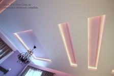 <h5>Tavane false</h5><p>Scafele iluminate din gips carton din tavan sunt simple, drepte si discret colorate. </p>