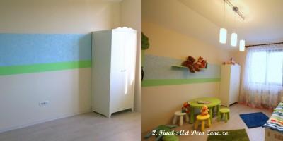 Dormitor de copil amenajari complete, inainte si dupa