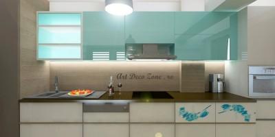 Proiect 3D mobila la comanda, MDF turcoaz