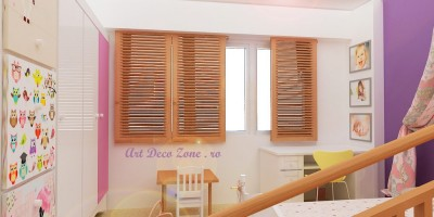 Dormitor de copil culori pastelate