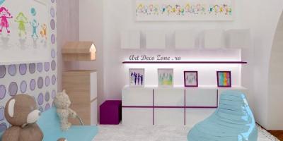 Proiect de design interior 3D camera copil