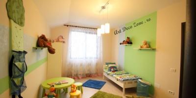 Amenajari camera de prescolar, culori pastelate
