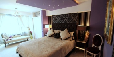 Leduri in tavan dormitor personalizat
