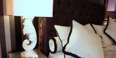 Noptiere glamour alb-negru