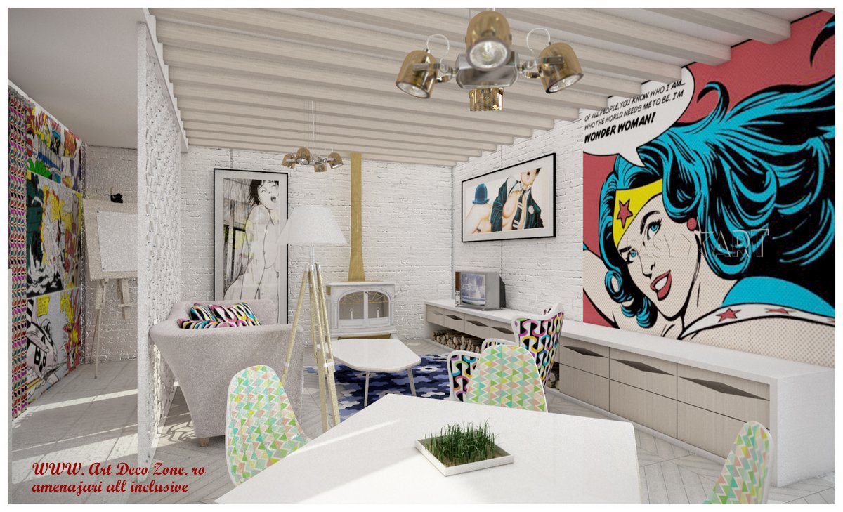 Design interior cool urban chic
