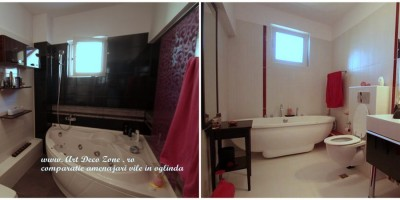 Comparatie amenajare case in oglinda / baie matrimoniala