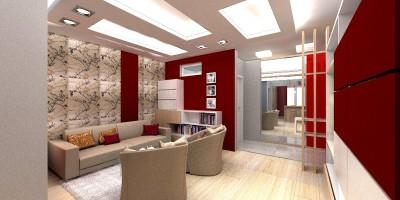 Proiect de design interior amenajare spatiu mic