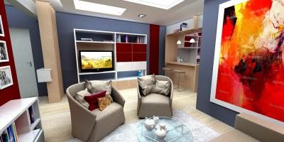 Design interior 3D living