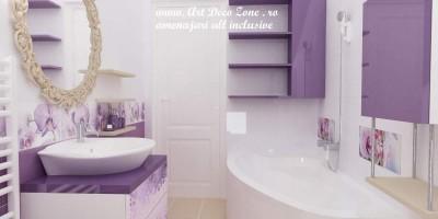 baie romantica cu oglinda cu arabescuri