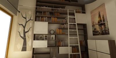 Birou mobilier la comanda - creatie pentru mansarda