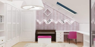 lumina led ascunsa in mobila dormitor copil