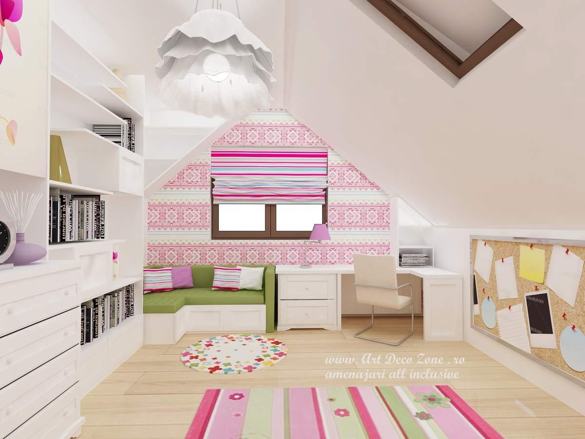 dormitor de fetita in motive traditionale romanesti / etnic