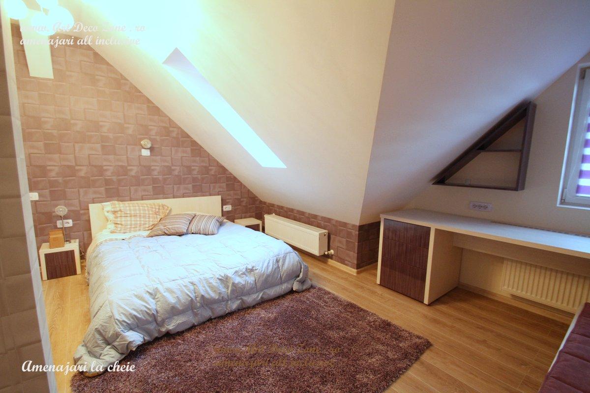 Dormitor Mansarda Design Duplex Proiect Superb