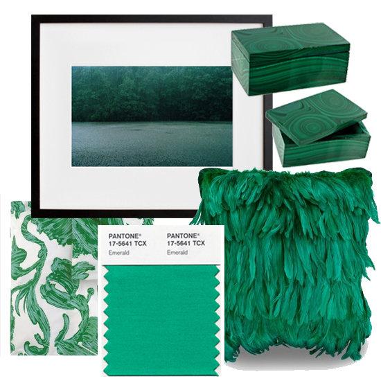 Culoarea anului 2013 in amenajari - smarald