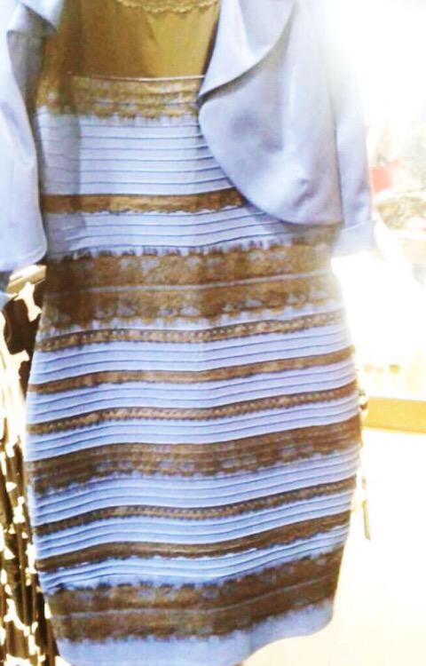 Rochia negru cu albastru sau alb cu auriu?