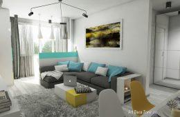 Apartament de 2 camere transformat in 3 camere