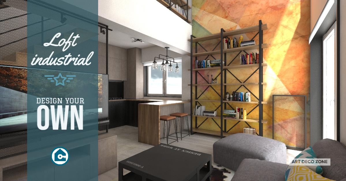 Amenajări la cheie apartament / LOFT stil industrial