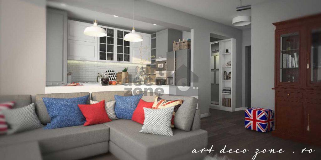 Amenajări apartament 3 camere stil British