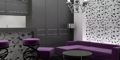 Proiect 3d avantgardist de amenajare apartament mic